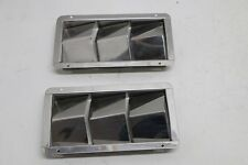PAIR STAINLESS STEEL BOAT VENT 3 LOUVER