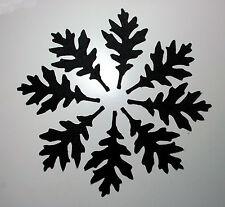 16 x Felt Halloween Black Silhouette Leaves Die Cuts Spooky Leaves Haunted