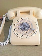 Vintage Rotary Desk Telephone,Cream Color, Itt 500, Tested