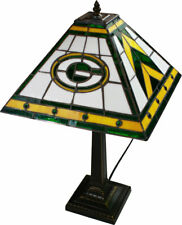 Green Bay Packers Stained Glass Mission Style Table Lamp