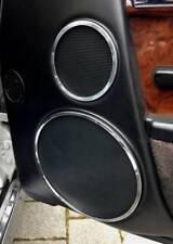 D Mercedes MB SL R129 Chrom Ringe für Türlautsprecher - Aluminium -