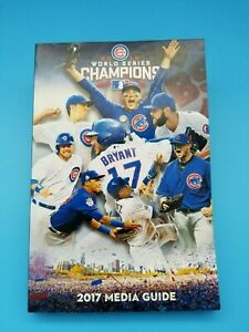 CHICAGO CUBS - BASEBALL MEDIA GUIDE - 2017 WORLD SERIES CHAMPS MINT - NEVER READ