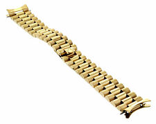 PRESIDENT WATCH BAND BRACELET FOR ROLEX DATE WATCH 19MM GOLD GP PART