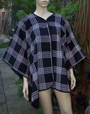 New MISS FACELESS One Size Only Black Check Cape - Poncho Fits UK 12 -16