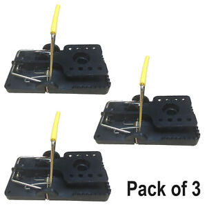 Snappy Rat Traps x 3 By TrapMan Strong Springs Well Heavy Duty plastic Effective