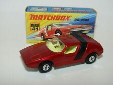 Matchbox Superfast No 41 Siva Spyder 4 Spoke Wheels VNMIB HTF