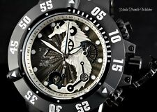 Invicta 50mm Subaqua Noma III ALL BLACK SEAHORSE Swiss Quartz Chronograph Watch