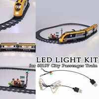 LED Light Kit for Lego 60197 City Passenger Train Building Blocks Toys Bricks