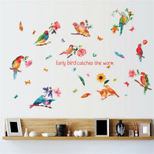 Early Birds Sucess Room Home Decor Removable Wall Stickers Decals Decoration