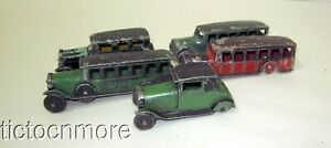 VINTAGE EARLY TOOTSIETOY FORD CARS OVERLAND BUS LINE FAGEOL BUS LOT 1920s