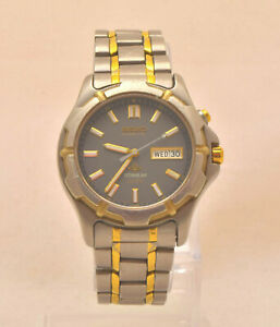 Seiko 5M43-0C00 TITANIUM Kinetic Mens Watch TITANIUM bimetallic bracelet. Box.