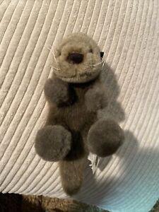 "1987 Fiesta Monterey Bay Aquarium Sea Otter Stuffed Plush  Original Tags 5.5- 9"""