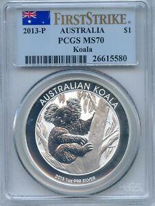 2013-P MS-70 First Strike PCGS Silver Koala LOW MINTAGE