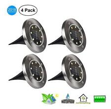 4 Pack Solar Ground Lights Garden Pathway Outdoor in-Ground Lights with 8 LED