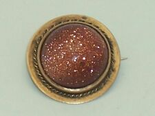 Victorian Small Gold Stone Pin