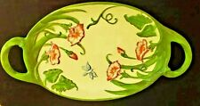 Dragonfly Platter Temptations By Tara Large With Handles Colorful Display Cateri