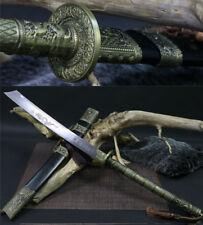 Alloy Handle Damascus FOLDED STEEL BLADE DRAGON TSUBA CHINESE SWORD DAO (康熙宝刀)
