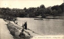 Hampstead Heath. Bathing Pond # 678 by LL / Levy. Black & White.
