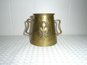 Art & Crafts Brass Art Nouveau French Two Handle Vase / Cup