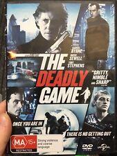 The Deadly Game ex-rental region 4 DVD (2011 Gabriel Byrne thriller movie) rare