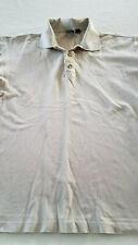 HUGO BOSS Golf TAN Men's COLLAR Shirt LARGE 2XL SHORT Sleeve GOLFING ITALY