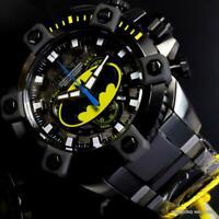 Invicta DC Comics Batman Grand Octane Steel Swiss Mvt Black 63mm Watch New