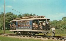 Manchester Nh parlor car - Seashore Trolley Museum Kennebunkport Maine Postcard