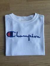 Womens Champion Logo White Tshirt Size XS