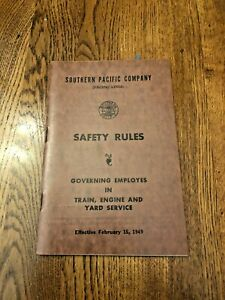 Southern Pacific Co Safety  Rules 1949 Booklet