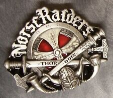 Pewter Belt Buckle Religious Celtic Cross Norse Raiders Thor Odin NEW