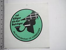 Aufkleber Sticker Kriminalpolizei 70er 80er Jahre (7642)