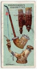 Antique Smoking Pipes of Germany 1920s  Ad Trade Card