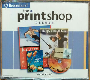 """Print Shop Deluxe"" Creative Software (4 discs) for Windows 98 / 2000 / Me / XP"