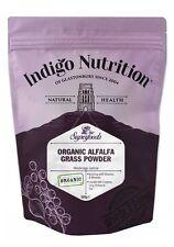 Hierba alfalfa orgánica Polvo - 500g - (Medicago sativa) Indigo Hierbas