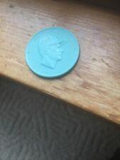 1955 Armour Baseball Coin Bob Turley New York Yankees RARE IN AQUA