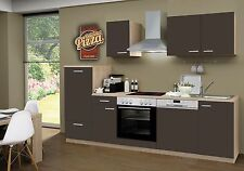 Küchenzeile Classic Lava CF GS 270cm,Sonoma ,incl.E-Geräte, Ceran,Geschirrspüler