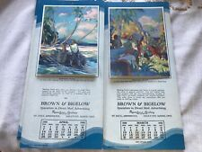 Vintage Brown & Bigelow Advertising Calendars with Pirates 1929