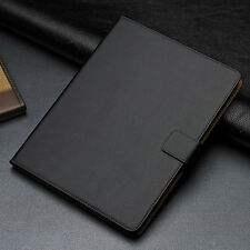 New Black Genuine Leather Flip Card Wallet Smart Case Cover For Apple iPad 2 3 4