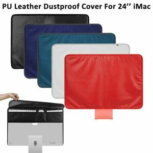 Full Case Back Pocket PU Leather Dustproof Display Cover For Apple 24 Inch IMac