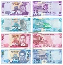 Malawi 20 + 50 + 100 + 200 Kwacha 2012 Lot de 4 billets 4 pcs UNC