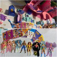 Mattel 1984 She-Ra Crystal Castle + 9 Figures, Swan Horses & He Man / Toys Rare