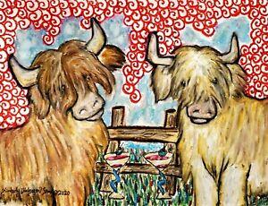 Scottish Highland Cow 13x19Art Print / Poster, Wall Art, Home Decor Martinis