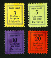 Switzerland Stamps 4x 1930 Cash Delivery Stamp Values H