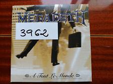 CD SINGLE PROMO MEGADETH - A TOUT LE MONDE - CAPITOL EUROPE 1995