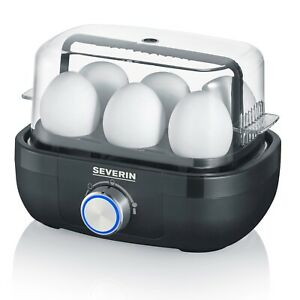 Severin Egg Cooker with Cooking Time Control, Foldable Hood & Buzzer, Easy Clean
