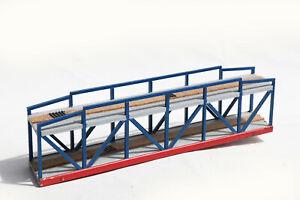 Ponte Legno H0 Auto-Costruire Blu Seitengitter 60 X 12 CM Altezza Ca 14 (163502
