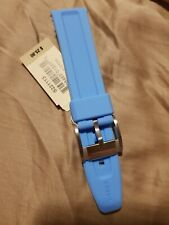 GENUINE NWT FOSSIL 22MM SKY BLUE SILICONE RUBBER WATCH STRAP S221113