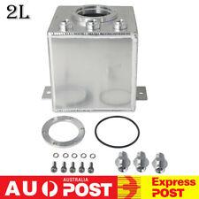 Aluminum 2L Racing Car High Flow Fuel Surge Tank AN6 For 044 Fuel Pump Universal