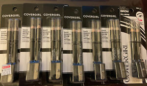 NEW Lot of 7 ~ Covergirl Easy Breezy Brow Fill Define Pencils 500 BLACK