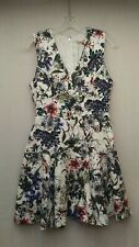 Rebecca Taylor Size 4 Floral Sleeveless Fit N' Flare Dress New NWT